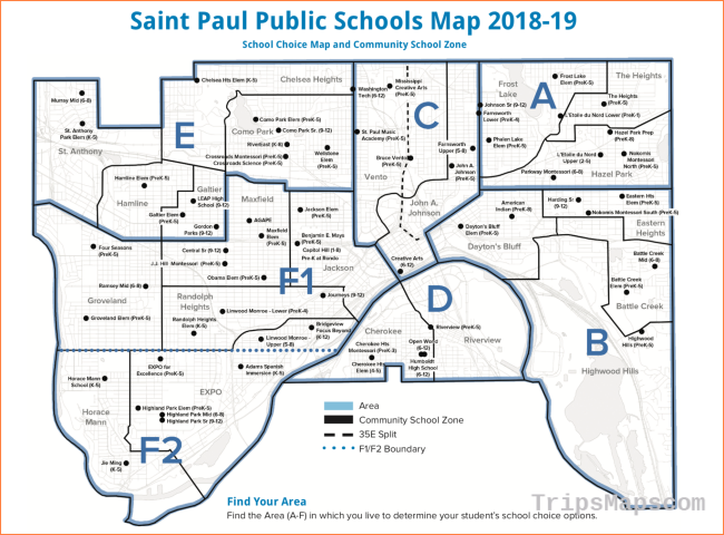 Maps of School Locations / Map of Schools