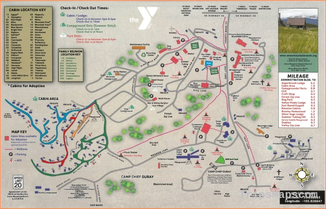 Maps & Directions - Snow Mountain Ranch - Winter Park