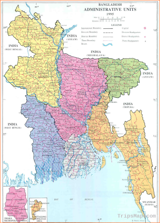 Map Of Dhaka Bangladesh