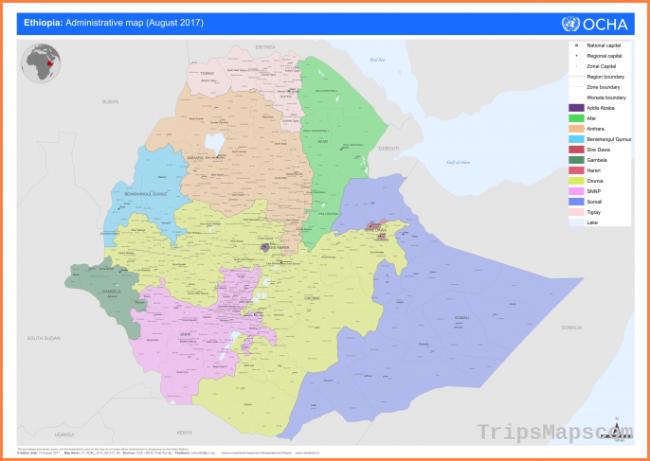 Ethiopia: Administrative Map