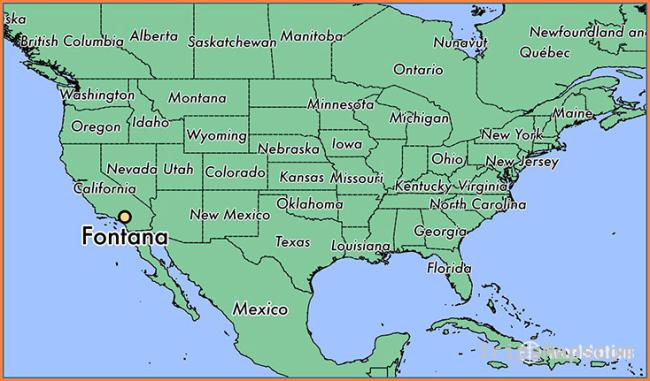 Where is Fontana, CA? / Fontana, California Map