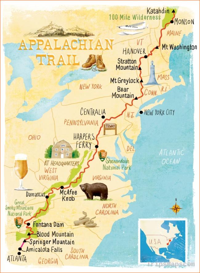 Appalachian Trail map Scott Jessop | Map illustration