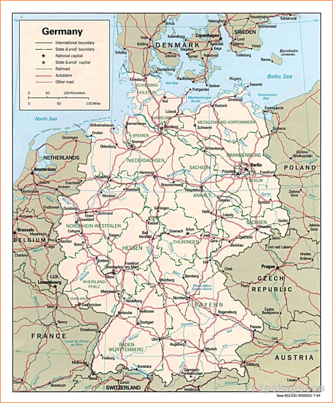 Map Of The Netherlands And Germany.Map Of Germany Where Is Germany Germany Map English Germany