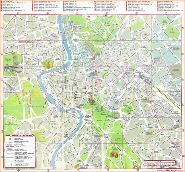 Large Rome Maps for Free Download and Print