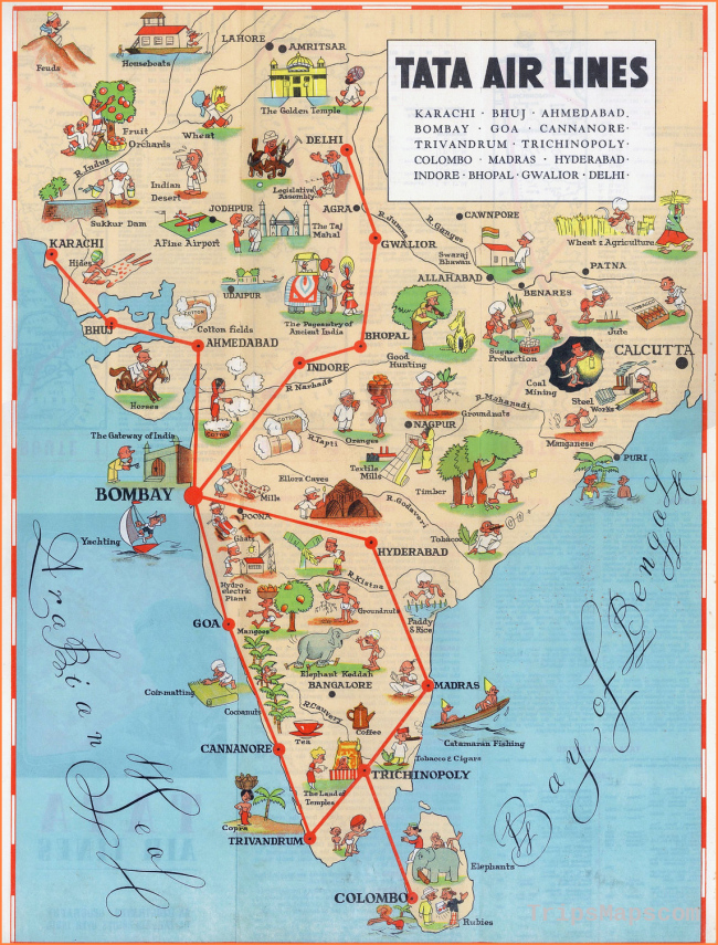 Maps of India | Detailed map of India in English