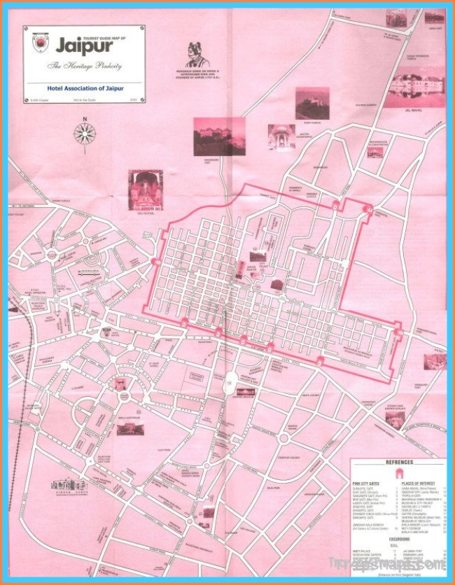 awesome Map of Jaipur | Travelsmaps | Pinterest | Tourist map