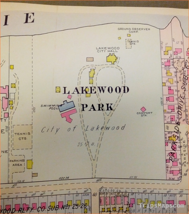 Maps of Lakewood Park, Lakewood, Ohio