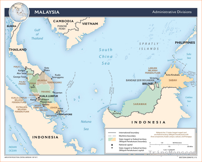 Maps of Malaysia | Detailed map of Malaysia in English