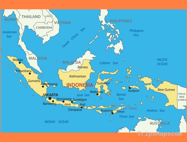 Indonesia Map with cities - blank outline map of Indonesia