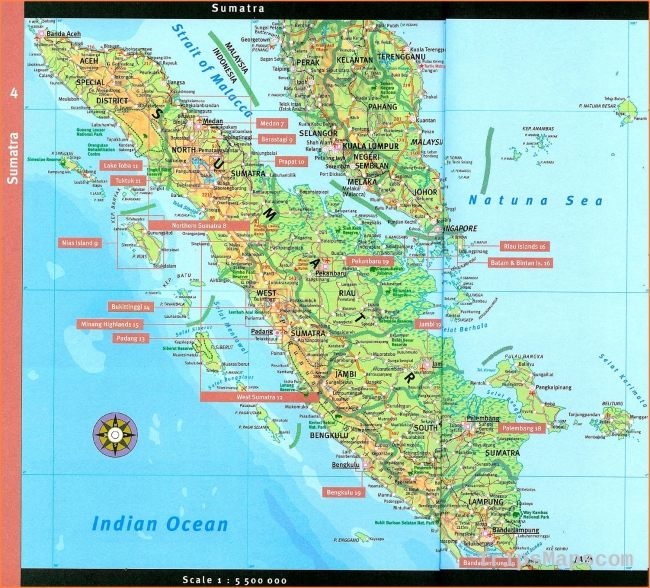 Large Sumatra Maps for Free Download and Print