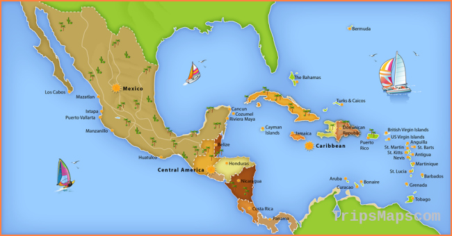 Map Of Mexico Caribbean Coast