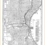 Milwaukee Map - Street Map Vintage Poster Print | Apartment Livin