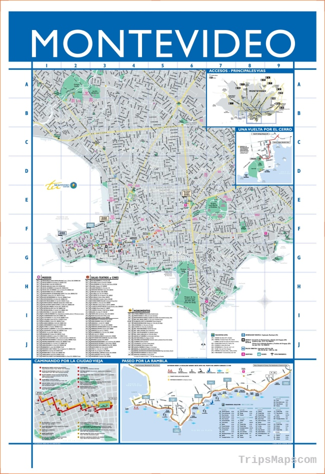 Large Montevideo Maps for Free Download and Print