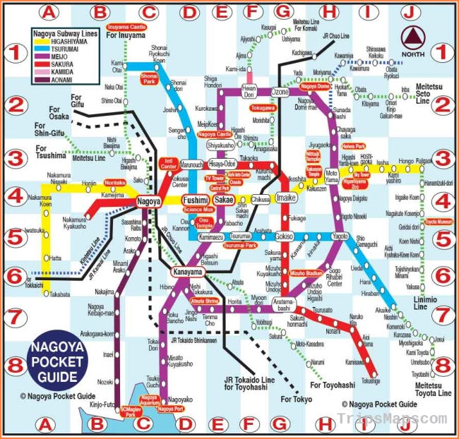 NAGOYA POCKET GUIDE: Nagoya Tourist Map in English with the best