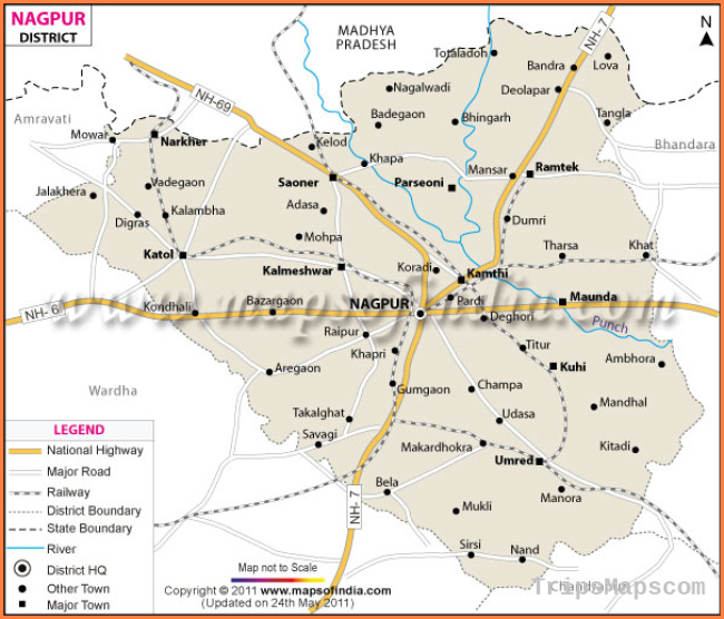 Nagpur District Map