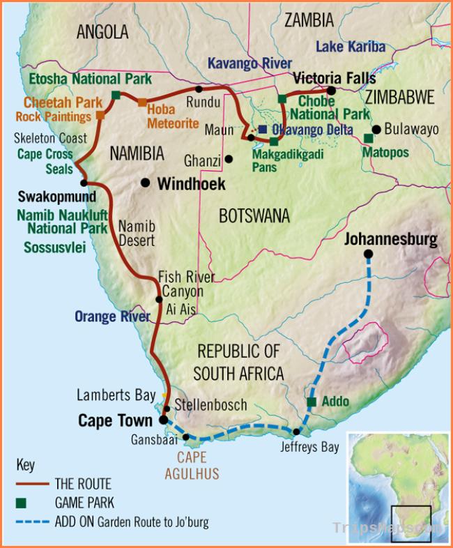 Victoria Falls to Cape Town Safari