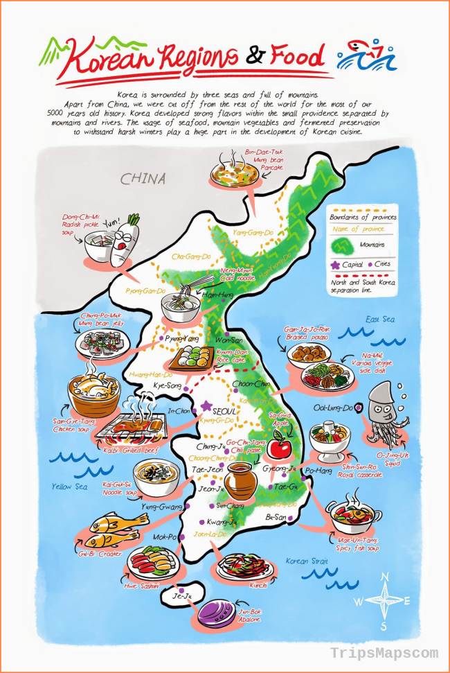 Maps of South Korea | Detailed map of South Korea in English