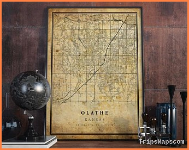 Olathe kansas map