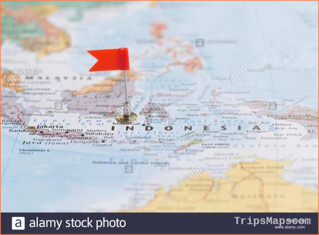 Map Of Indonesia Stock Photos & Map Of Indonesia