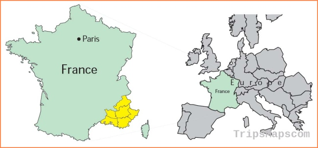 Maps of France, by Provence Beyond