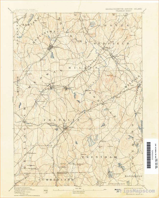 Rhode Island Historical Topographic Maps