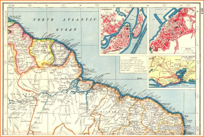 BRAZIL NORTH COAST & GUIANAS. Inset Recife & Salvador de Bahia plans