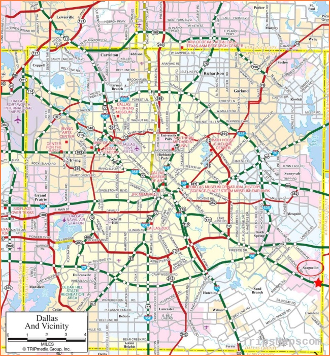 Large Dallas Maps for Free Download and Print