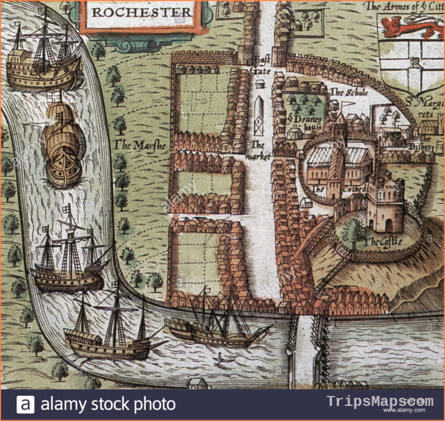 Map Of Rochester Stock Photos & Map Of Rochester