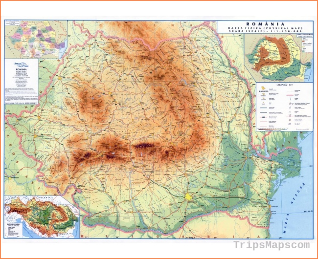 Maps of Romania | Collection of maps of Romania | Europe | Mapsland