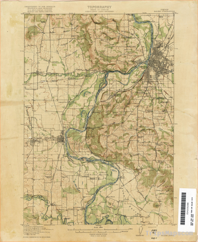 Oregon Historical Topographic Maps - Perry-Castañeda Map Collection