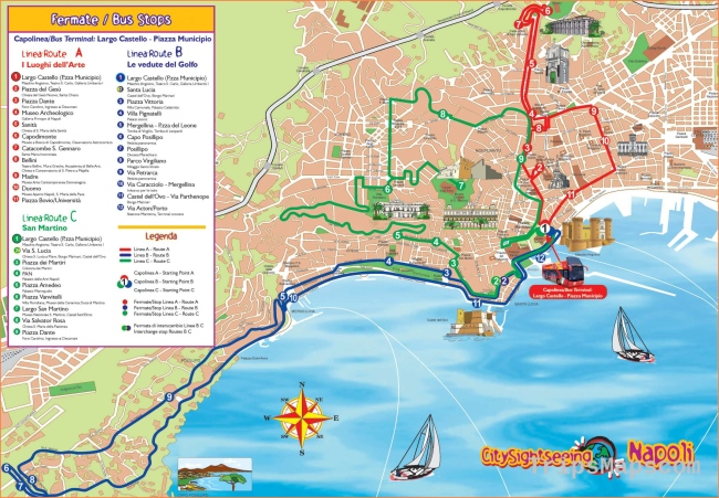 Large Naples Maps for Free Download and Print