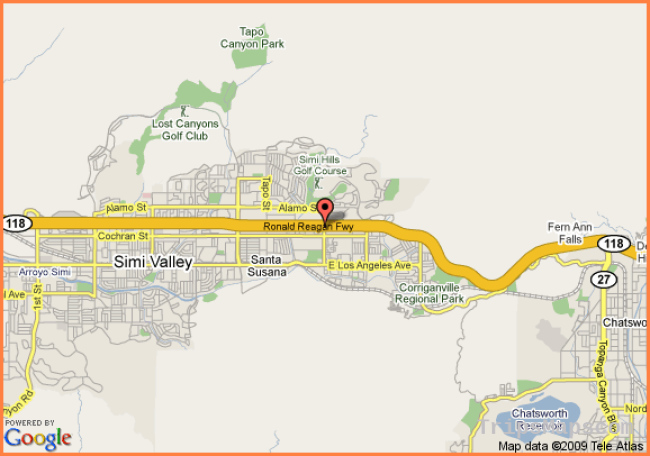 Map Reference. Simi Valley Map California