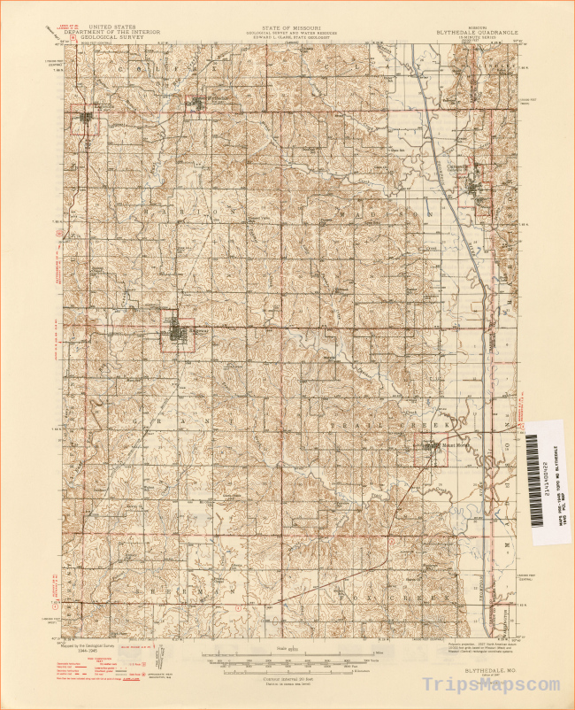 Missouri Historical Topographic Maps - Perry-Castañeda Map