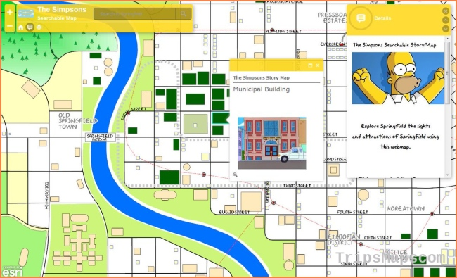 """What is GIS? on Twitter: """"Love The Simpsons? Explore Springfield in"""
