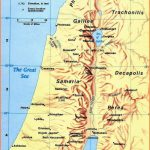 Ancient map of Palestine during the time of Jesus Christ