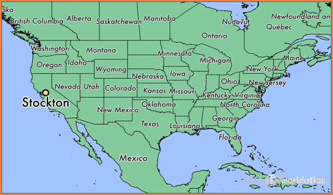 Where is Stockton, CA? / Stockton, California Map