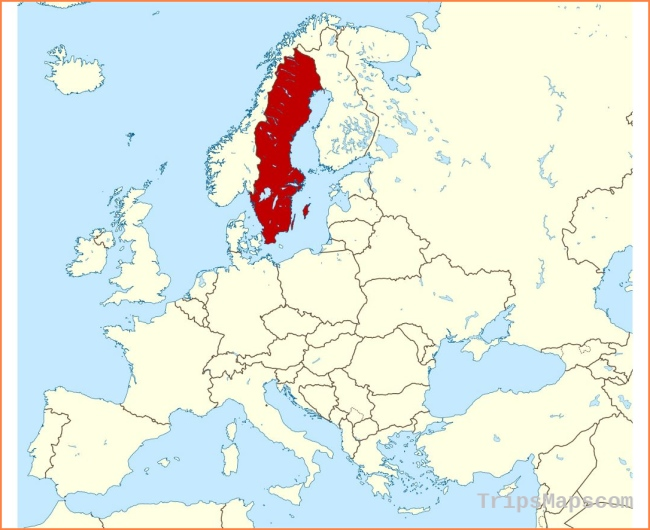 Maps of Sweden | Collection of maps of Sweden | Europe | Mapsland