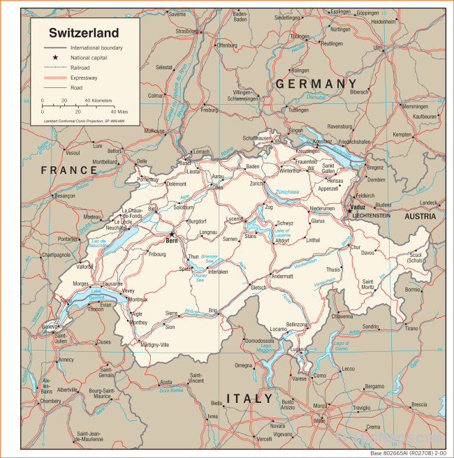 Switzerland Maps - Perry-Castañeda Map Collection