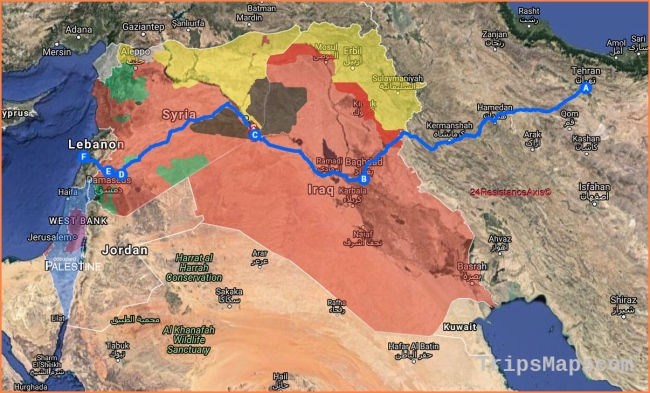 Map Update: Iran Establishes Major Land Route From Tehran To