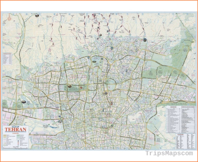 Maps of Tehran | Collection of maps of Tehran city