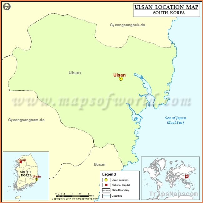 Where is Ulsan | Location of Ulsan in South Korea Map