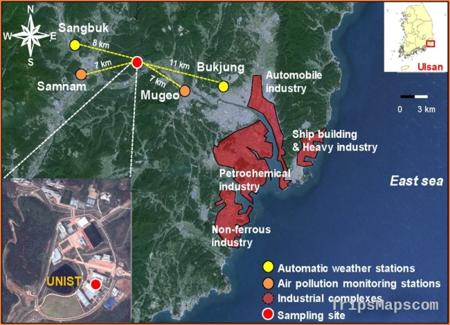 New study reveals Ulsan, South Korea, is exposed to yearlong toxic