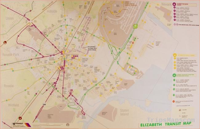 Maps & Transportation in Elizabeth