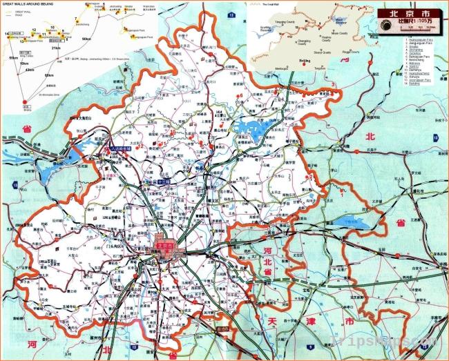 City maps. Stadskartor och turistkartor China, Japan, etc