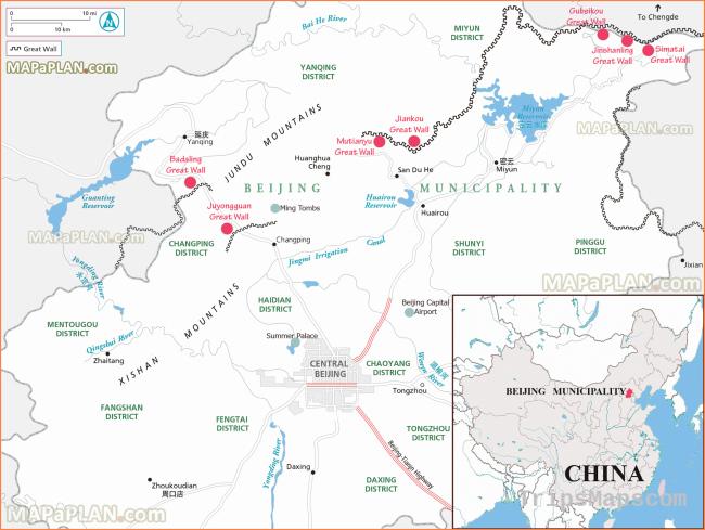 Beijing maps - Top tourist attractions