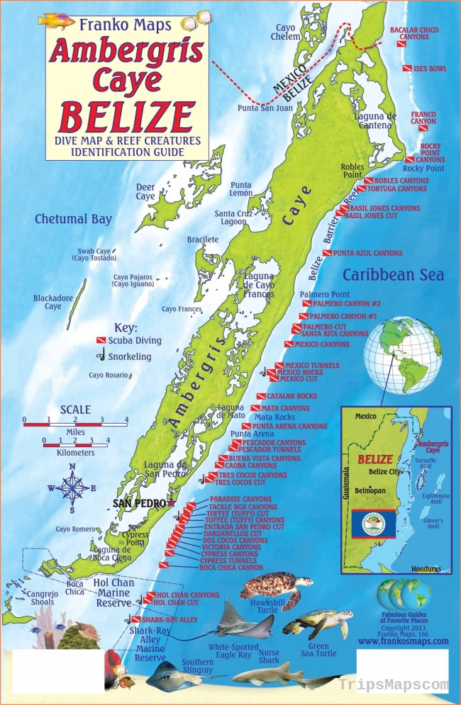 Map Of Belize Where Is Belize Belize Map English Belize Maps
