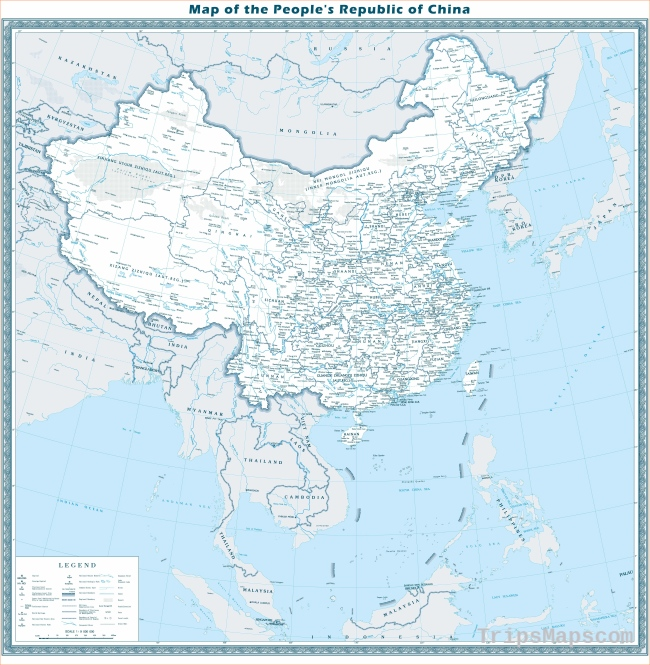 Map of China: Maps of City and Province