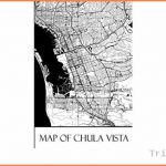 Map of Chula Vista: Chula Vista Map Travel Vacation Journal, Diary