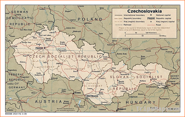 Maps of Czech Republic   Detailed map of the Czech Republic in