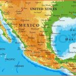 Geographical Map Of Mexico Major Tourist Attractions Maps